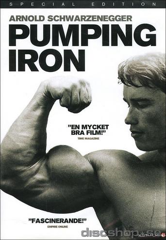 PUMPING IRON-Den klassiska filmen vilken räknas som en av de stora idrottsdokumentärerna. Informationen kopierad från discshop.se! Leverans nästa dag om du beställer före 16.00. Arnold Schwarzenegger, Lou Ferrigno, Franco Columbu, Mike Katz och resten av gänget tränar inför Mr Olympia i Sydafrika.